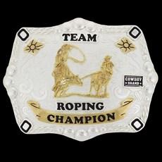 Fivela Team Roping Champion Cowboy Brand 20440