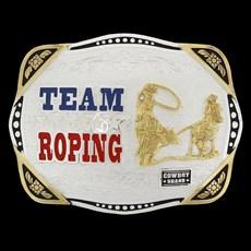 Fivela Team Roping Cowboy Brand 20437