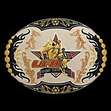 Fivela Ultimate Fighter Bulls com Banho Prata/ Dourado/ Cobre - Sumetal