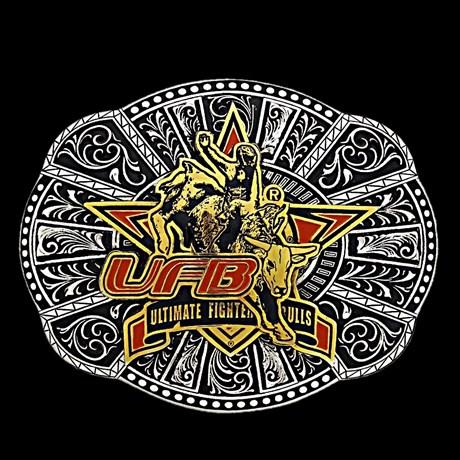 Fivela Ultimate Fighter Bulls com Fundo Negro - Sumetal