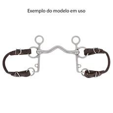 Francalete de Couro Natural para Embocaduras Bronc-Steel 29761