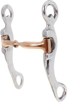 Freio Bridão Alumínio 1/2 Médio Bocal de Ferro com Banho Cobre - Bregeiro 18425