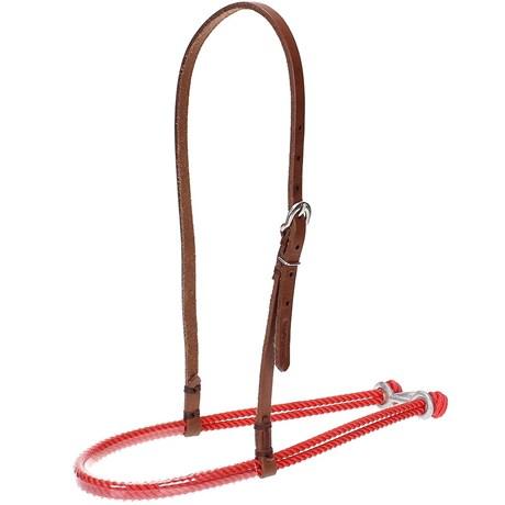 Gamarra para Cavalo Top Equine de Couro e Peia Vermelha 20905
