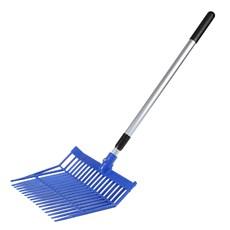 Garfo de Plástico para Limpeza de Baia M Reis Azul com Cabo 26189