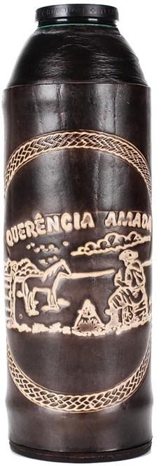 Garrafa Térmica Revestida em Couro Bordado - Promate 13200