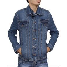 Jaqueta Jeans Masculina Tassa Azul Escuro 19576