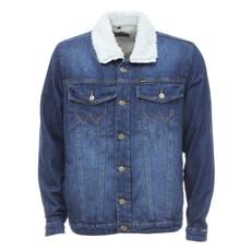 Jaqueta Masculina Jeans com Interior e Gola em Pelúcia Original Wrangler 29125