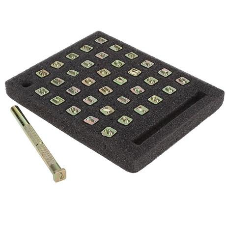 Kit Alfabeto e Algarismo Tandy Leather 1/4'' 8137-00