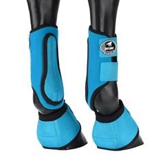 Kit Caneleira e Cloche Azul para Cavalo Boots Horse 25853