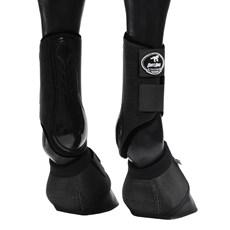 Kit Caneleira e Cloche para Cavalo Boots Horse Preto 25852