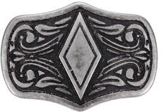 Kit com 10 Margaridas 32x22mm Prata Envelhecida Rodeo West 21462