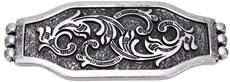 Kit com 10 Margaridas 71X28mm Prata Envelhecida Rodeo West 21452