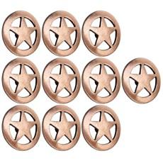 Kit com 10 Margaridas Estrela 25mm Cobre Envelhecido Rodeo West 25619