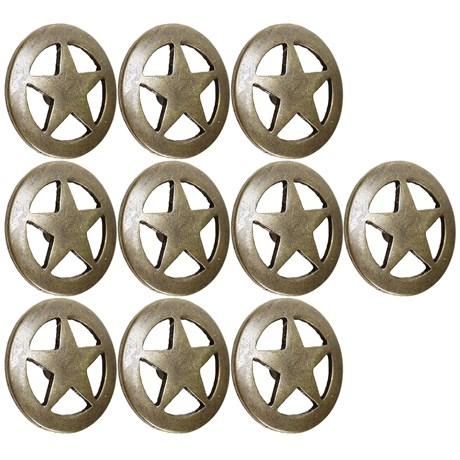 Kit com 10 Margaridas Estrela 25mm Ouro Velho Rodeo West 25620