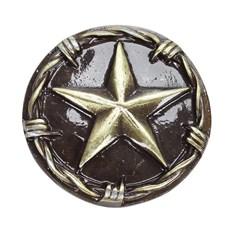 Kit com 10 Margaridas Estrela 36mm Ouro Velho Rodeo West 21457