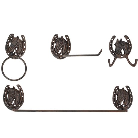 Kit de Cabides de Metal para Banheiro - Western Moments 12389
