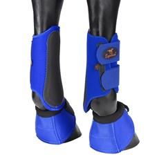 Kit de Caneleira e Cloche para Cavalo Equitech Azul 25883