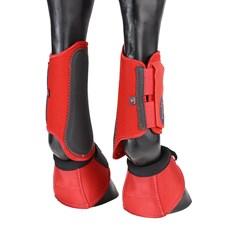 Kit de Proteção Equitech para Cavalo Caneleira e Cloche Vermelho 25879