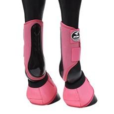 Kit de Proteção para Cavalo Boots Horse Caneleira e Cloche Rosa 25851