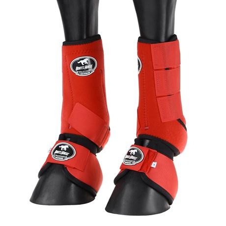 Kit de Proteção para Cavalo Boots Horse Splint Boot e Cloche Vermelho 25856
