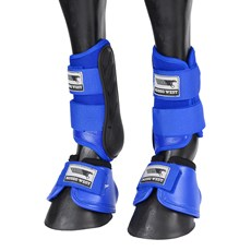Kit de Proteção para Cavalo Caneleira e Cloche Azul Rodeo West 25889