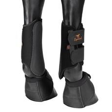 Kit de Proteção para Cavalo Caneleira e Cloche Equitech Preto 25882