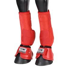 Kit de Proteção para Cavalo Splint Boot e Cloche Vermelho Rodeo West 25891