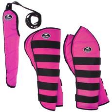 Kit Protetor de Viagem Rosa para Cavalo Boots Horse Longo 25864