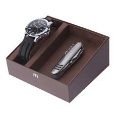 Kit Relógio Masculino Mondaine Prata 5ATM com Canivete 11 Funções 24973
