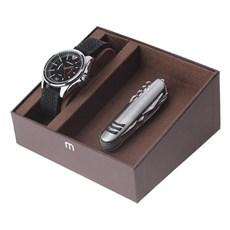 Kit Relógio Mondaine Masculino Preto com Canivete 11 Funções 24974