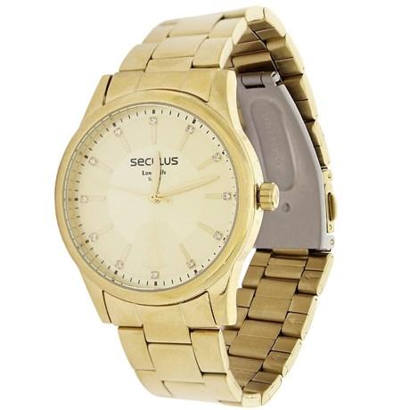 6ed6a927972 Kit Relógio Seculus Feminino Dourado com Colar 19700 - Rodeo West