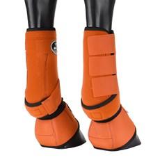 Kit Splint Boot e Cloche Laranja para Cavalo Boots Horse 25855