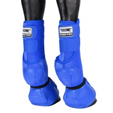 Kit Splint Boot e Cloche para Cavalo Rodeo West Azul 25888