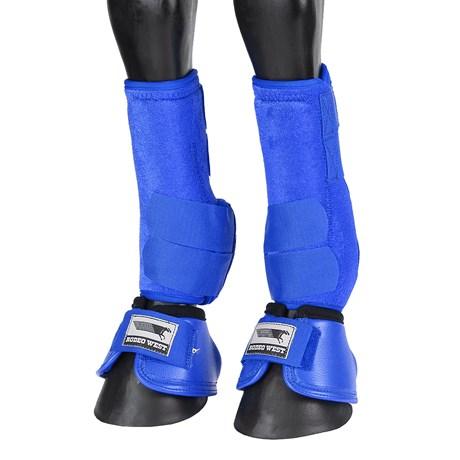 Kit Splint Boot e Cloche para Cavalo Rodeo West Azul 25888