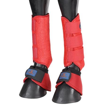 Kit Splint Boot e Cloche Vermelho Equitech 25880