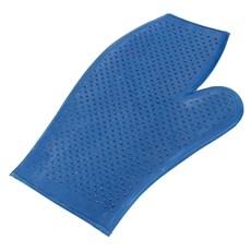 Luva de Borracha Dupla Face Azul para Banho - Instep 14798