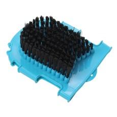 Luva de Borracha para Banho em Cavalo Dupla Face Azul Partrade 26684