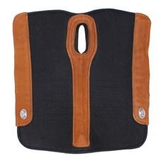Manta Flex Comfort Preta com Pelego Boots Horse 29160