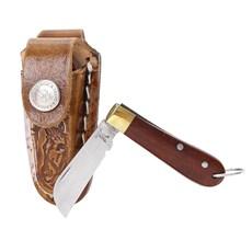 Mini Canivete Inox com Bainha Chaveirinho Rodeo West 23605