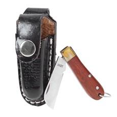 Mini Canivete Inox com Bainha Preta Rodeo West 19811