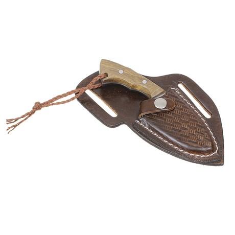 Mini Faca Campeira Inox com Bainha Marrom Old West 29905