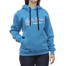 Moletom Feminino Azul com Capuz e Bolso Canguru Texas Farm 29106