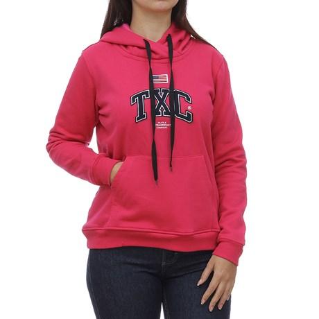 Moletom Feminino Rosa com Capuz TXC 29080