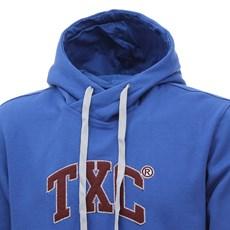 Moletom Masculino Azul com Capuz e Bolso Canguru TXC 29087