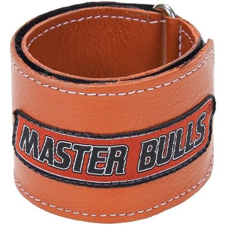 Munhequeira Master Bulls Fabricada em Couro Laranja - 19212