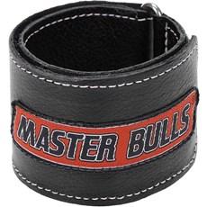 Munhequeira Master Bulls Preta Fabricada em Couro - 19207