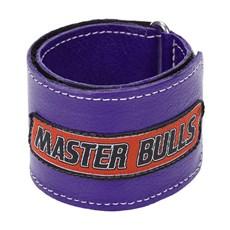 Munhequeira Master Bulls Roxa Fabricada em Couro 28920