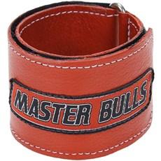 Munhequeira Master Bulls Vermelha Fabricada em Couro - 19210