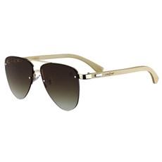 Óculos de Sol Amarelo Degradê Bambu Cow Way 25294