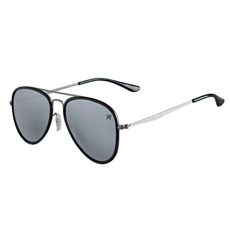 Óculos de Sol Aviador Polarizado Espelhado Prata Twisted Wire 29935